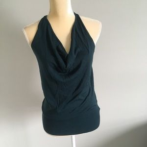 Mexx Women's Dark Green Cowl Neck Top Size M